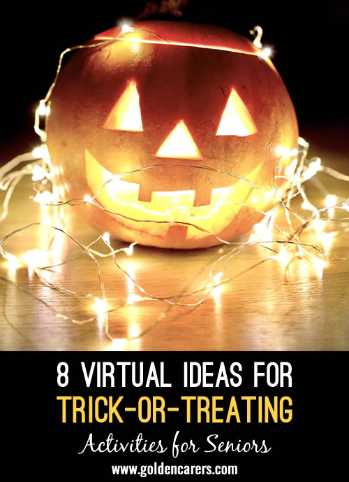 Many senior living communities love inviting local kids to safely trick-or-treat at the community.  However you may be struggling with how to continue this crowd-pleaser during covid-19 restrictions. Here are a few virtual ideas to try!