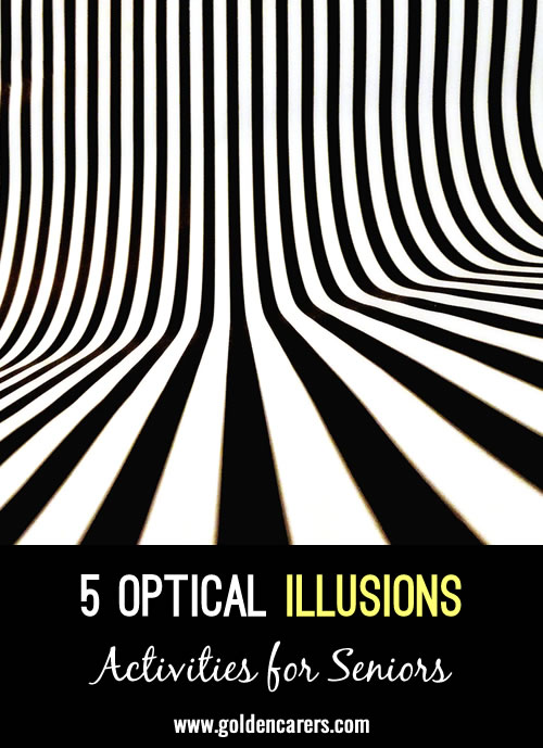 5 Mental Floss Activites - Optical Illusions