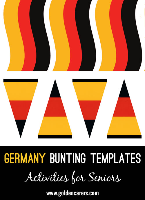 German bunting templates for a German party!