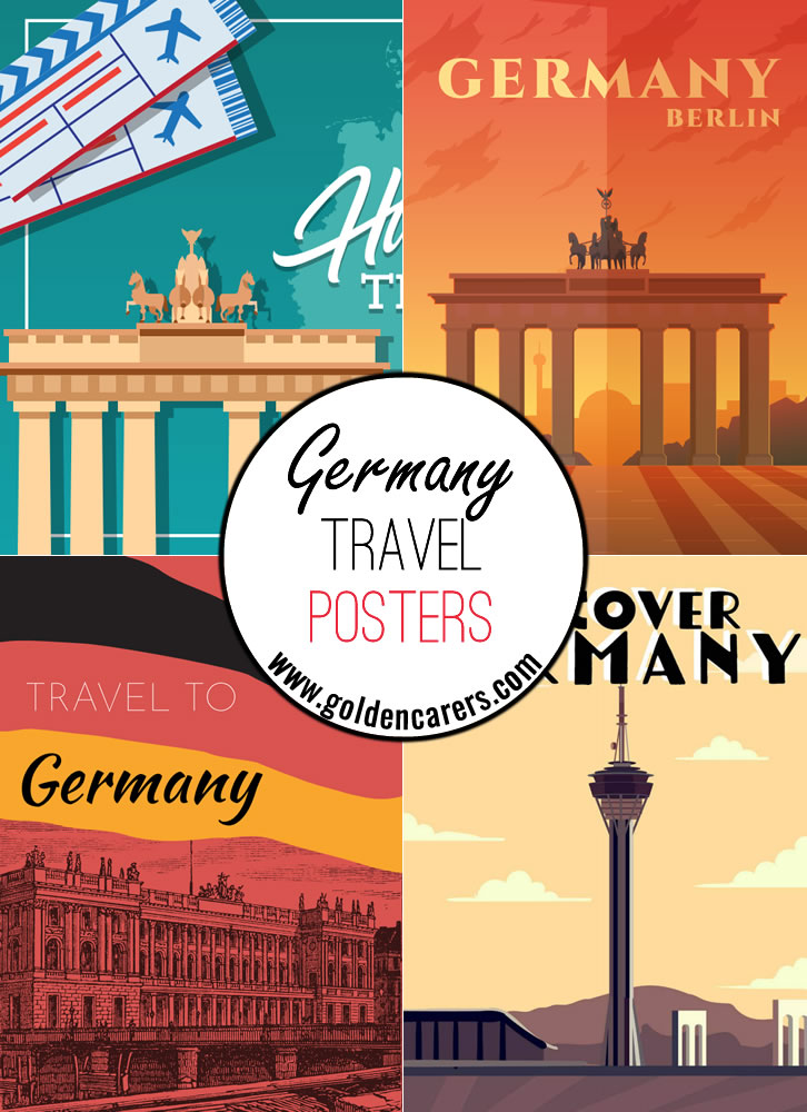 Posters of famous tourist destinations in Germany!