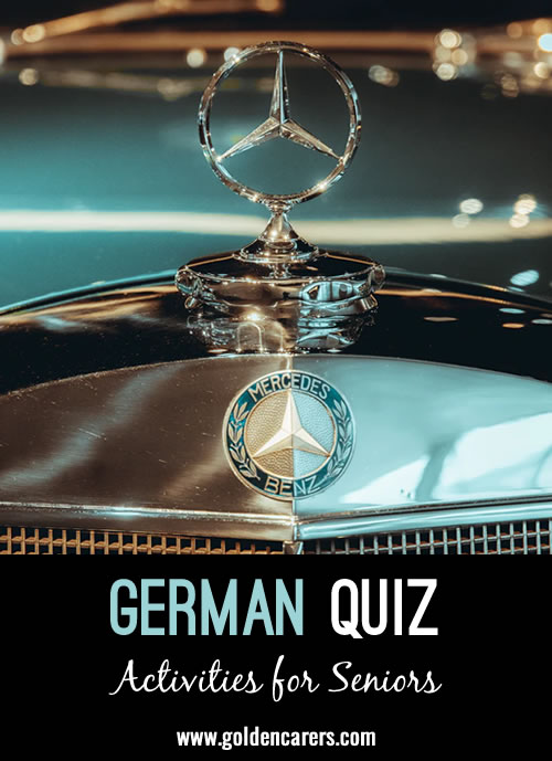 Test your knowledge of German culture! This activity is also suitable as a reminiscing activity for seniors from Germany.
