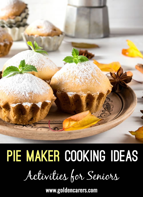The things you can cook in a pie maker with your residents!