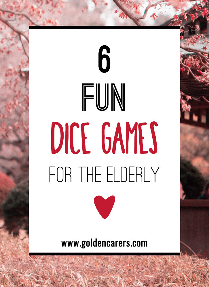 Here are 6 of our favourite dice games to enjoy that have been shared by members. Thank you to all who share! Some are modified versions of existing games and some you may not have tried before. These games are so easy to play and so much fun! Simply print & play!