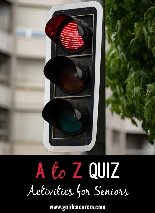 A fun A-Z Quiz to enjoy!