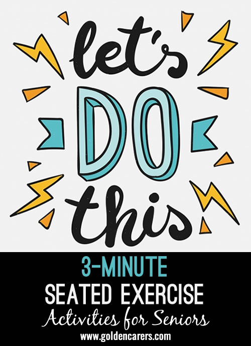 3 minute exercise for feet (ankles) and hands (wrists, palms to the front)