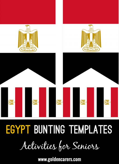 Egypt Bunting Templates