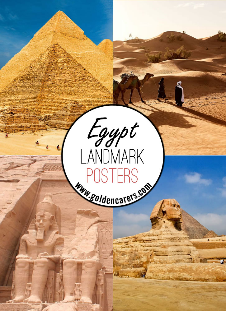 Posters of famous landmarks in Egypt!