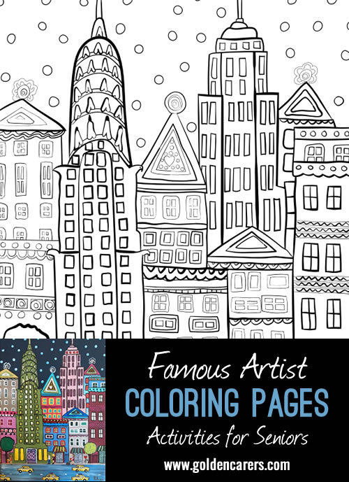 Famous Artist Coloring Pages: Here is an impression of an art of work by Pilar Soriano