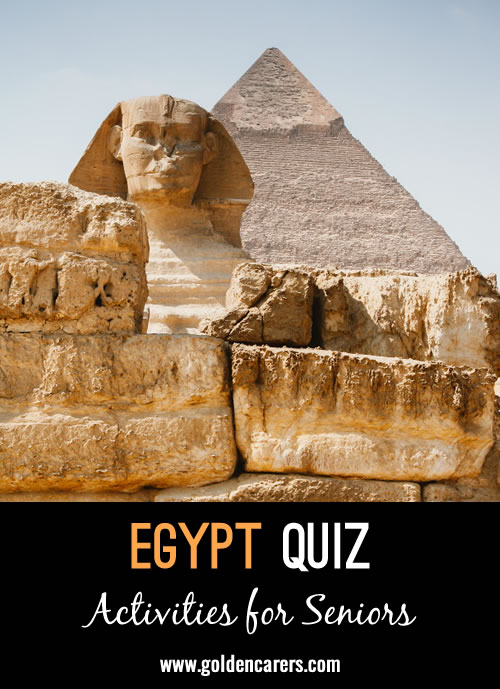 Test your knowledge of ancient Egypt with this fun quiz!