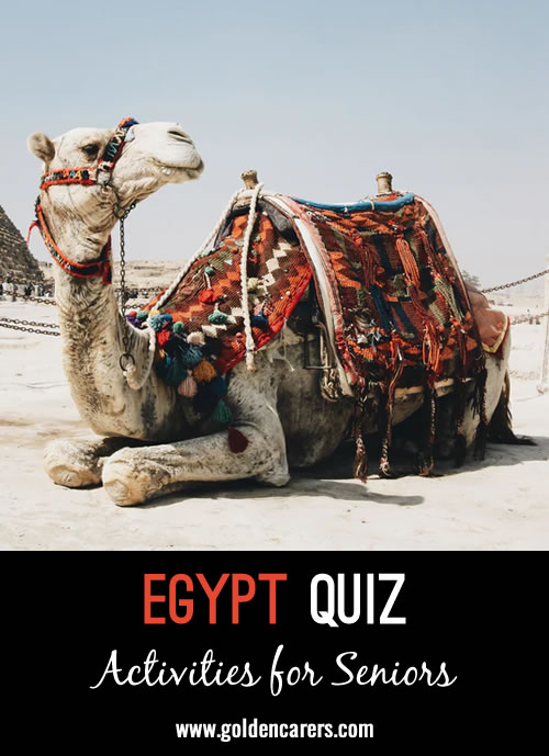 Another Egypt themed quiz to enjoy!
