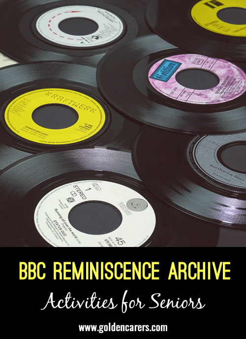 This archive provides access to a selection of content from the BBC Archives, designed to support reminiscence therapy.