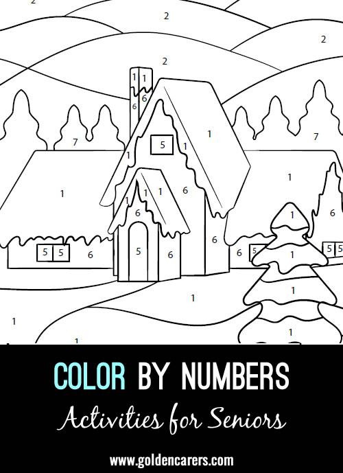 Another Christmas themed color by numbers activity to enjoy!