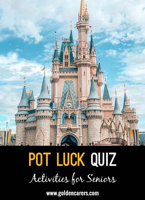 Another pot luck quiz to enjoy!