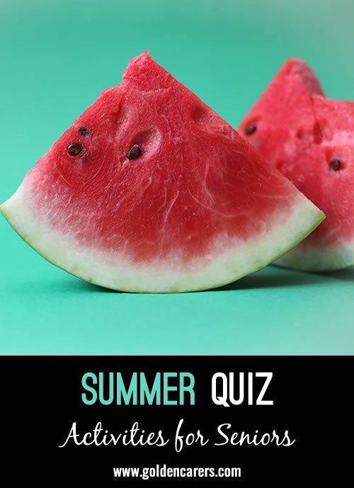 A summer themed quiz to enjoy!
