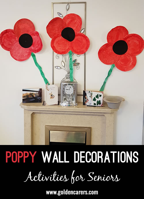 I have made these around poppy day for years now  and residents love making them each year, it combines arts