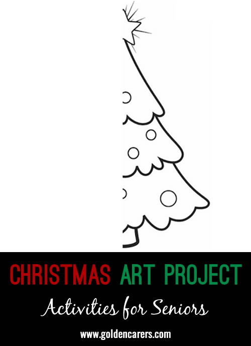 Thinking of givingyour residents who enjoying art a different project to complete this Christmas?? Well, try out the one attached!