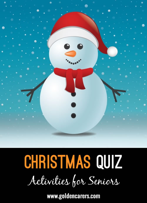 Here is another Christmas quiz to enjoy!