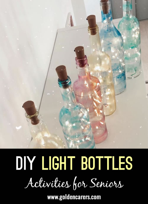 Beautiful diy light bottles that residents can decorate!