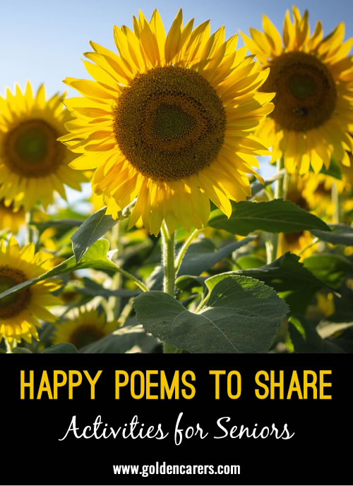 Here are two uplifiting poems to share!