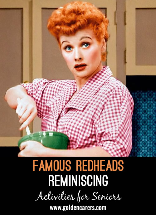 How much do you know about redheads in past and present pop culture or history? Find out with a few of these trivia questions and conversation starters.