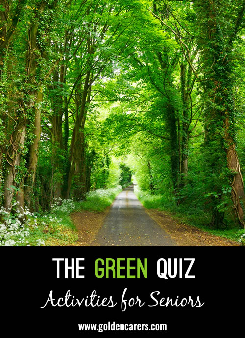 This fun quiz is dedicated to all things green!