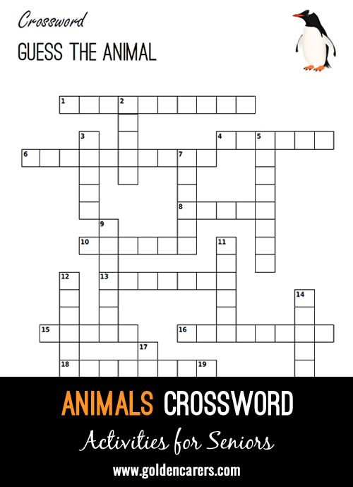 Guess the animals described in this fun crossword!