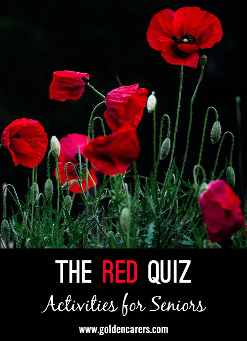 This fun quiz is dedicated to all things red!