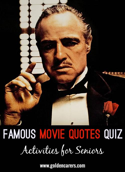 Famous Movie Quotes Quiz