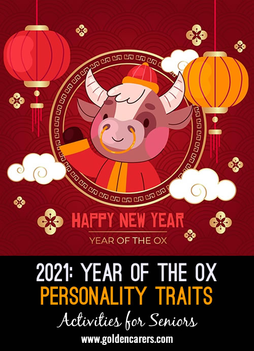 2021 - Year of the Ox - Personality Traits