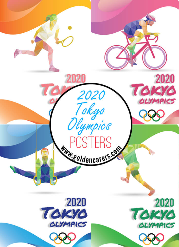 Tokyo 2020 Olympics posters for decorating!