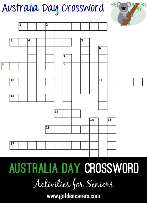 Celebrate Australia Day by completing this crossword! How well do you know Australia?
