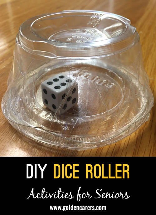 This is how we roll!! Individual, self contained dice are doing the job where Covid restrictions abound. The lid is taped on. One dice for every participant.