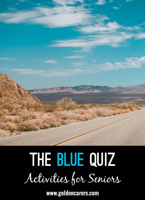 This fun quiz is dedicated to all things blue!