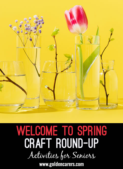 Looking for a few new arts and crafts ideas to welcome the spring season? Here are some links of activities you might enjoy using or adapting for your residents.