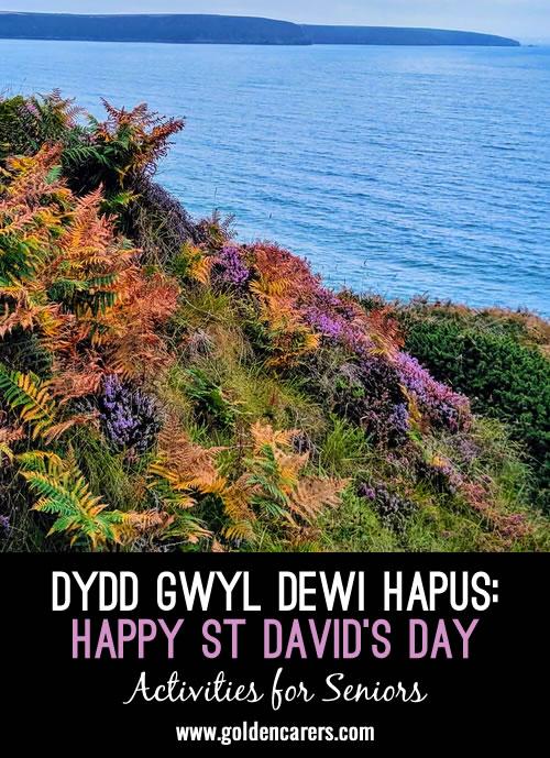 Dydd Gwyl Dewi Hapus   -  Happy St David's Day  -   Monday 1st March 2021h 2021