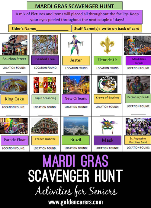 While Mardi Gras may look a little different this year, we have created a fun game as part of your Mardi Gras festivities!