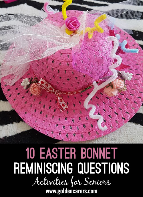 Here are a few questions to get your group talking about one of the most beloved (or hated, depending on who you ask) traditions: getting dressed up for church, for a parade, or for a party at Easter.