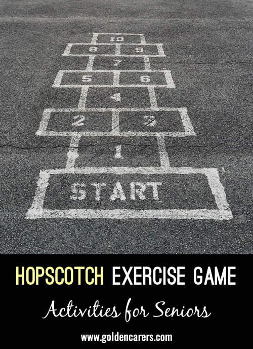 Hopscotch Exercise Game