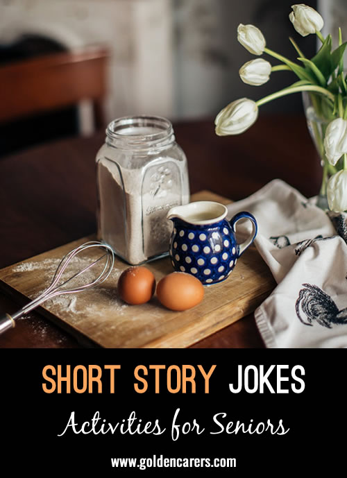 The next installment in our funny short stories series! Thank you Gwyneth!