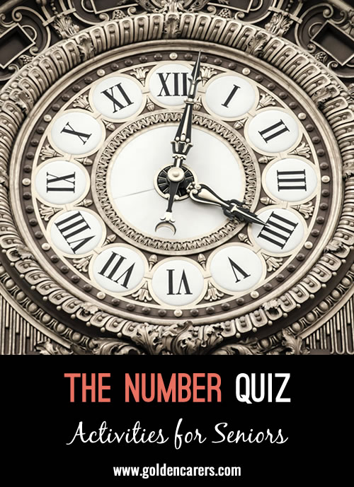 All the answers to this quiz are related to numbers!