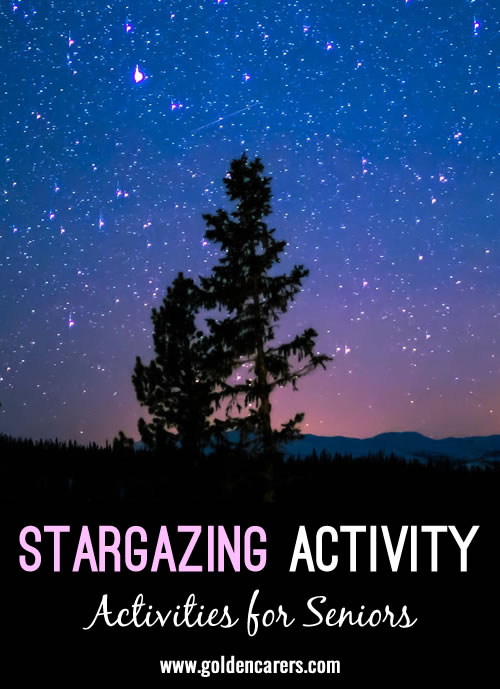 The current Pandemic has restricted many activity options making life rather difficult for residents and Activity Professionals. One free resource that can help fill the void is our beautiful night sky.