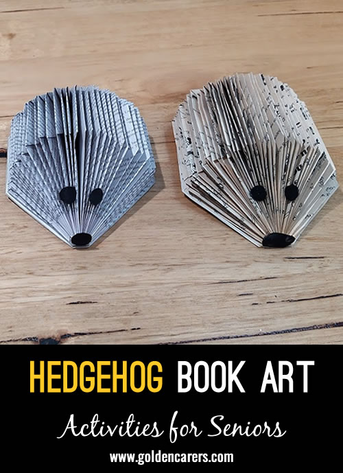 Goprgeous recycled hedgehogs to keep or give away as gifts!
