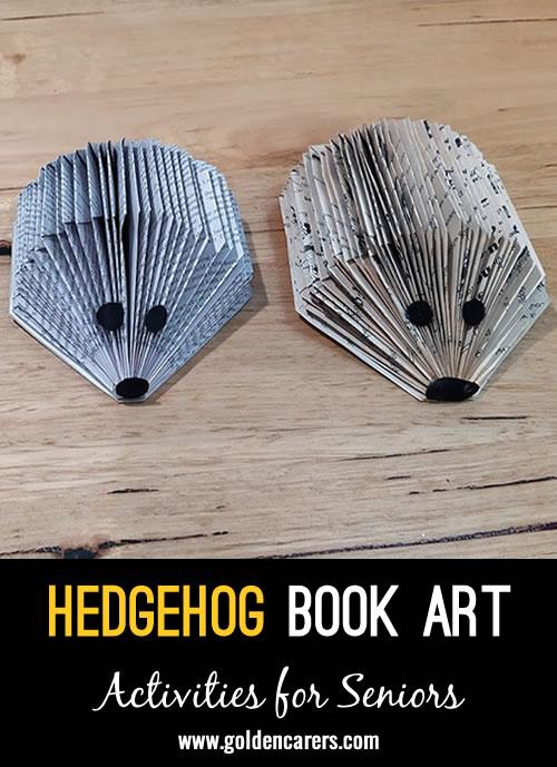 Hedgehog Book Art