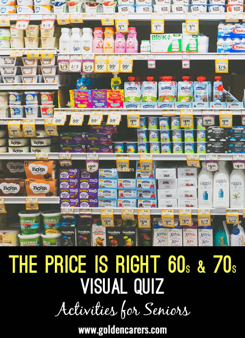 The Price is Right Visual Quiz - 60s & 70s