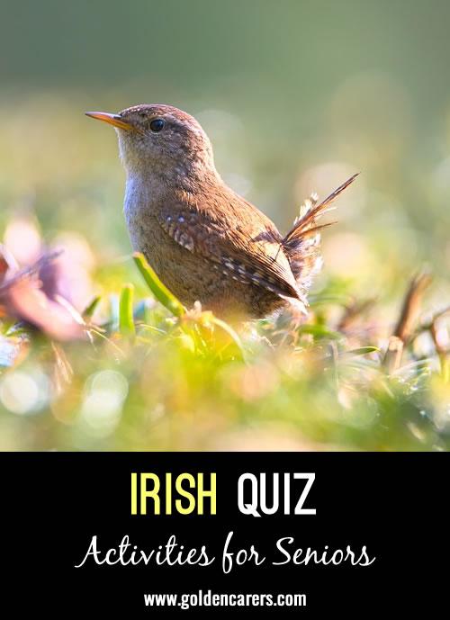 Here is another Irish quiz to enjoy!