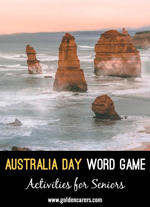 Australia Day Word Game