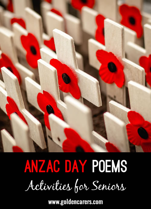 Here are three beautiful ANZAC Day poems to share.