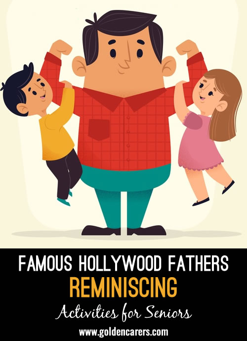 In celebration of Father's Day, let's take a look back at some famous fathers who we saw on our television, in the magazines, or at the movie theaters.