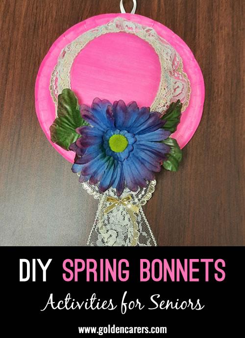 Make your own lovely Spring Bonnets!