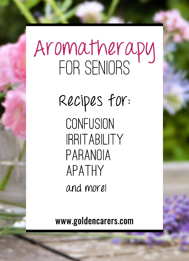 Aromatherapy is a simple and effective way of promoting well-being in seniors. Here are some aromatherapy blends to soothe a variety of different conditions.